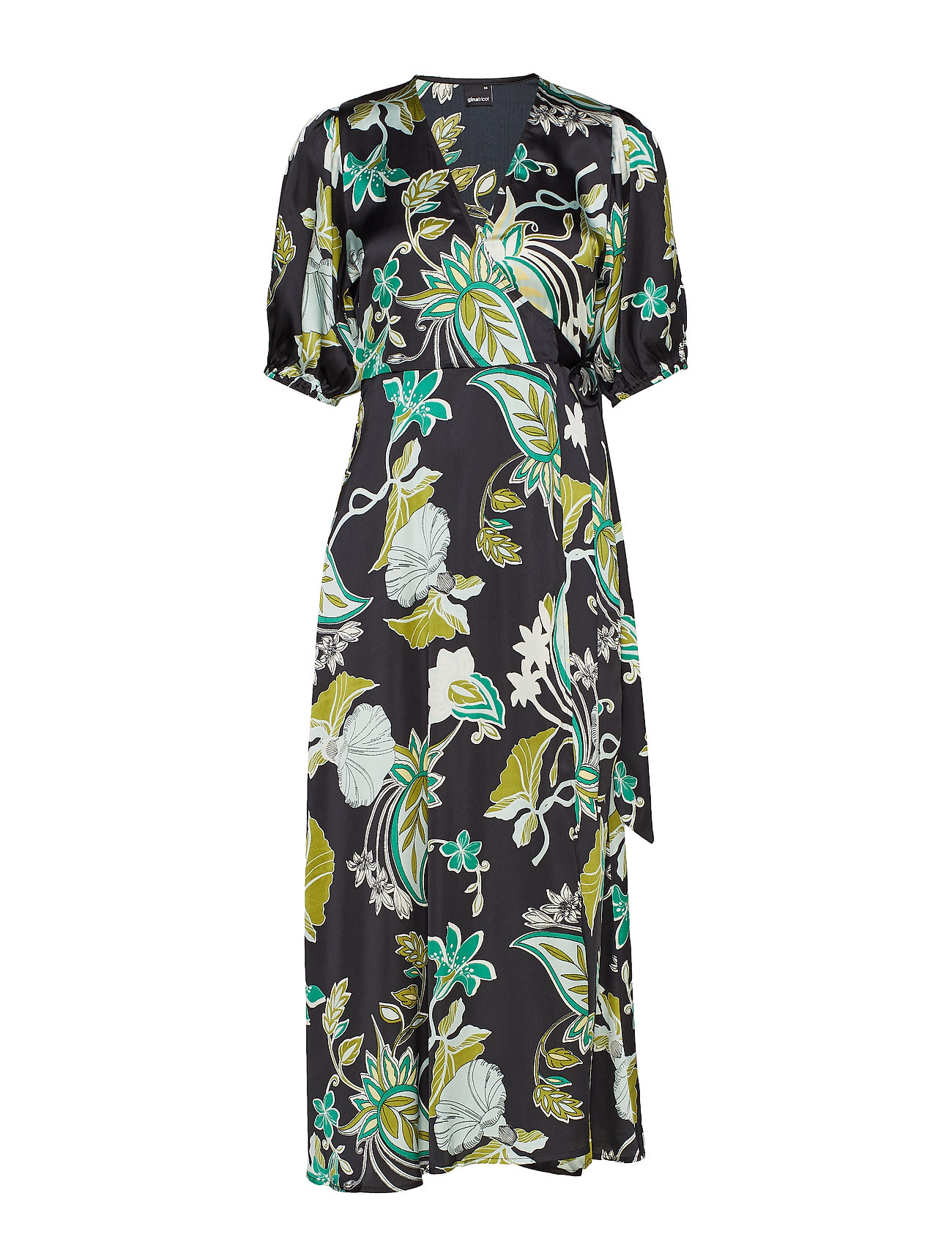 Gina Tricot Dita wrap dress - GREEN PAISLEY
