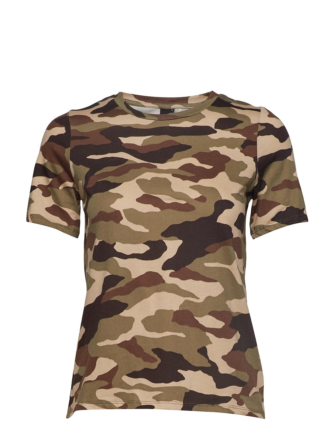 Cleo Tee T shirt Top Grøn GINA TRICOT