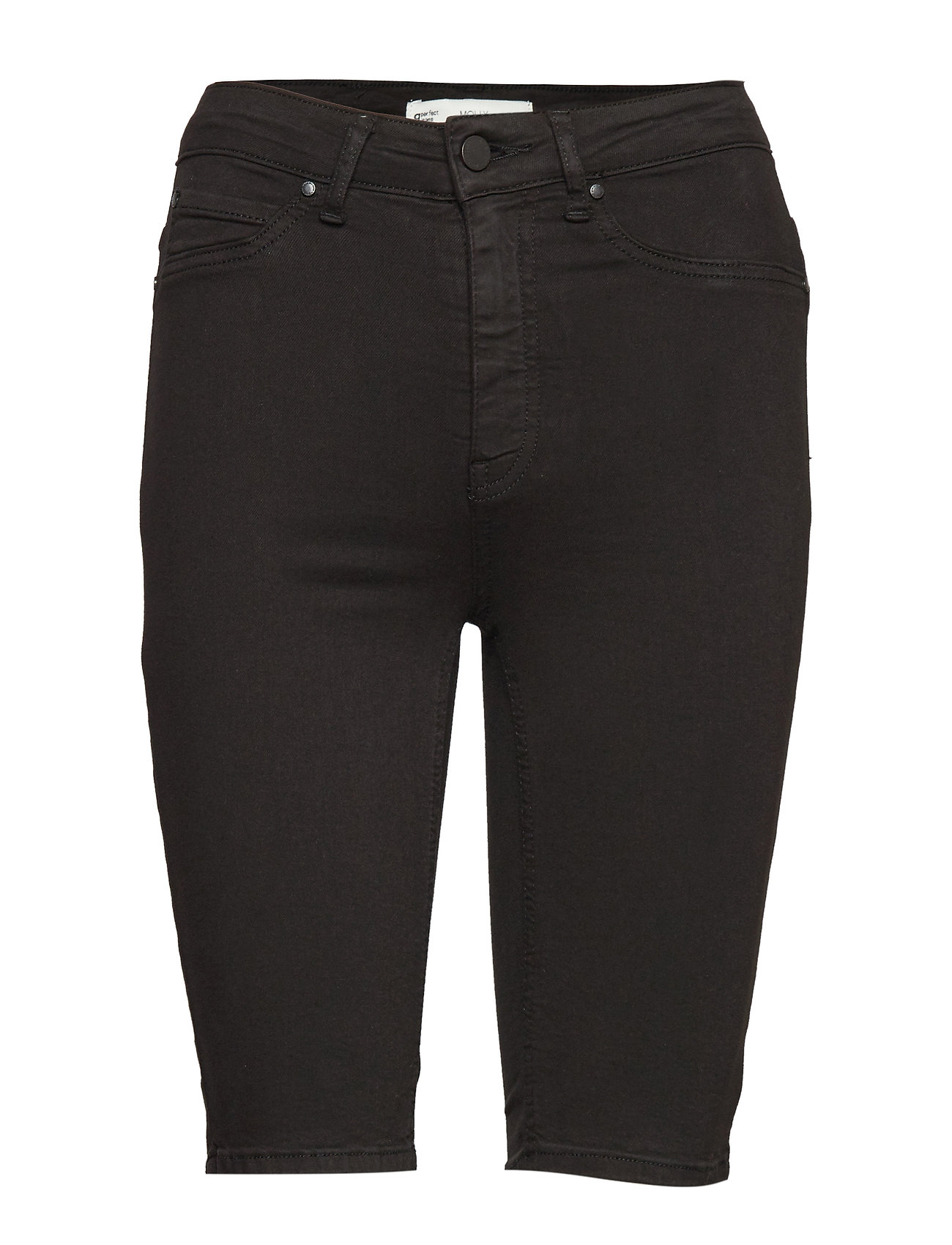 Gina Tricot Molly biker denim shorts - BLACK