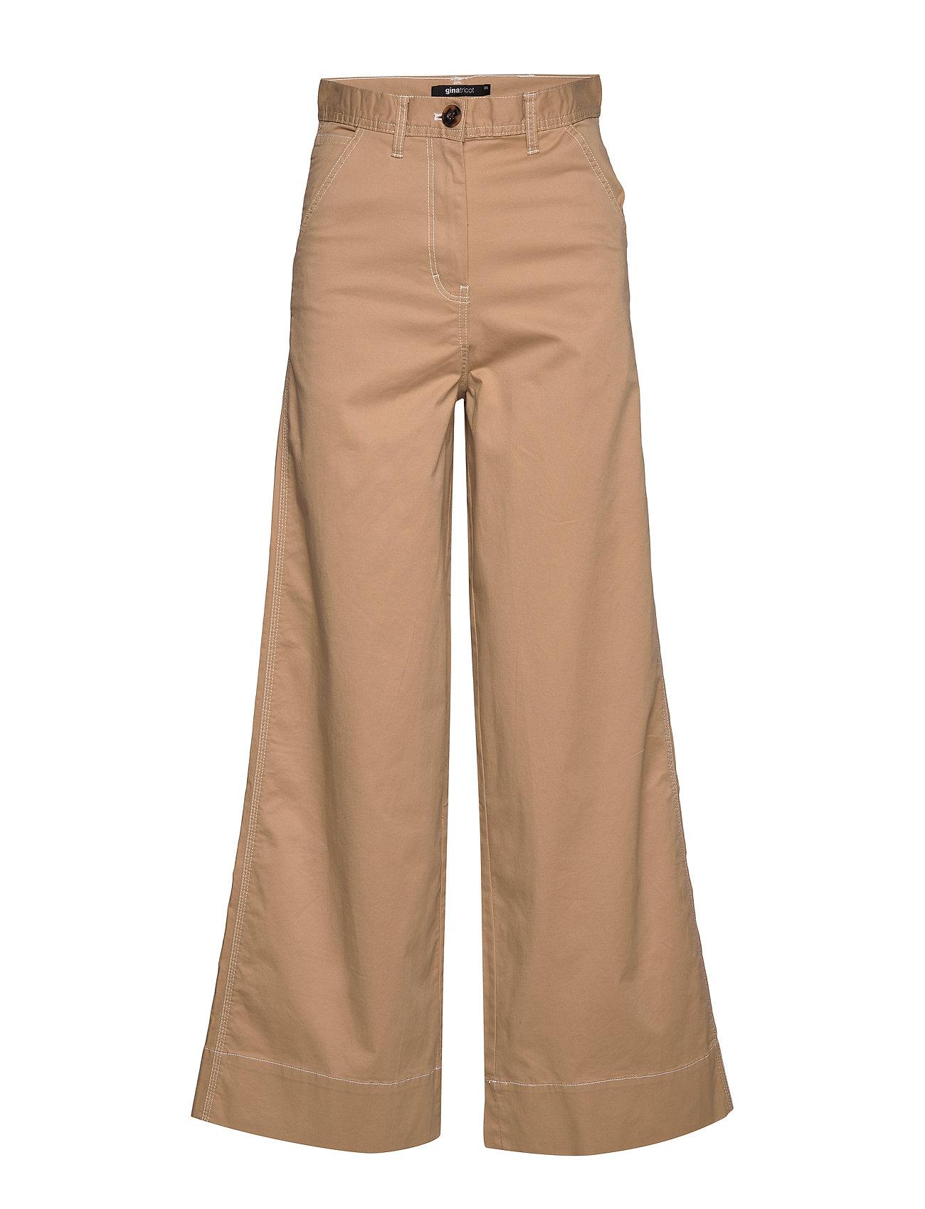 Gina Tricot Lena trousers - BEIGE
