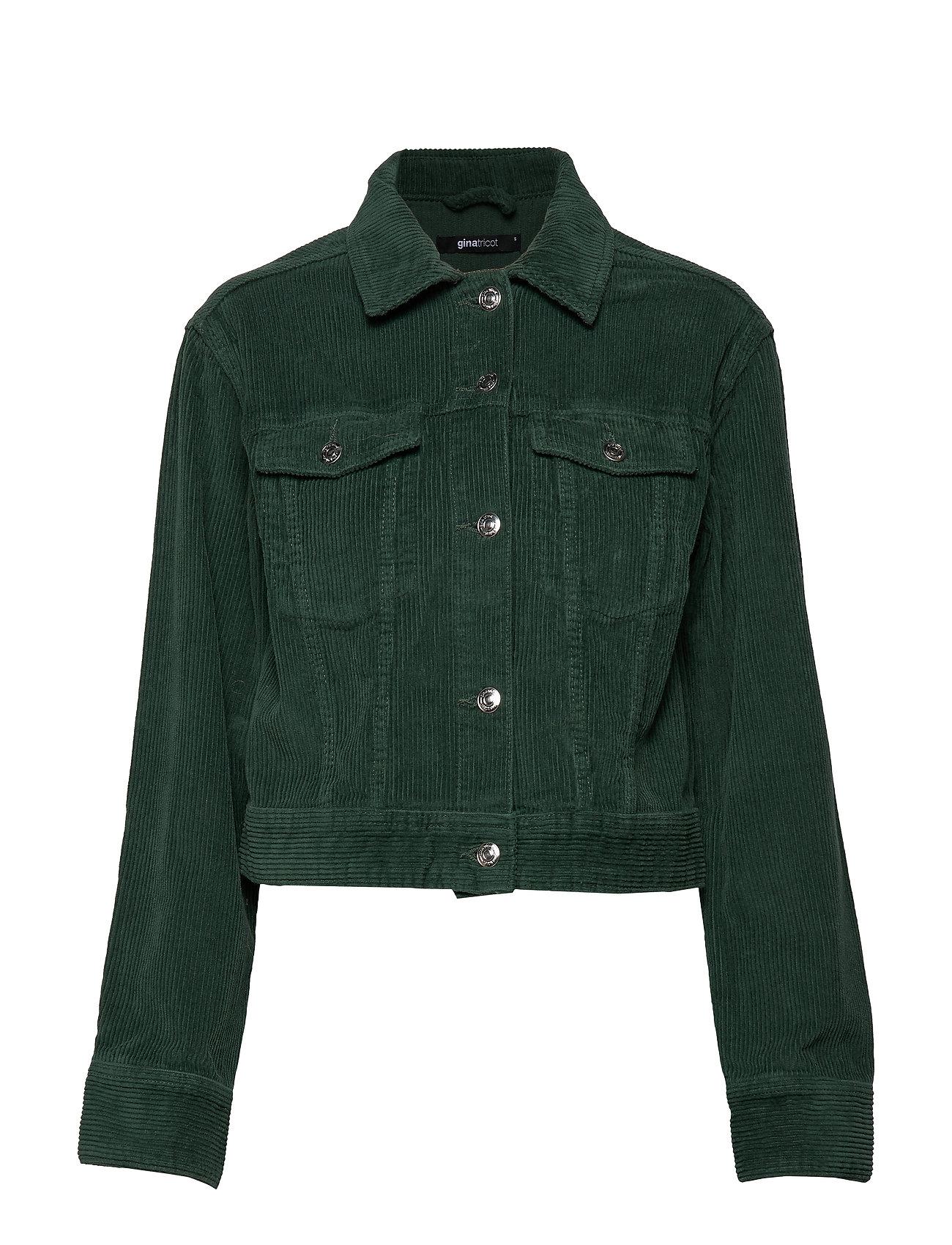 Gina Tricot Hailey corduroy jacket - TREKKING GREEN