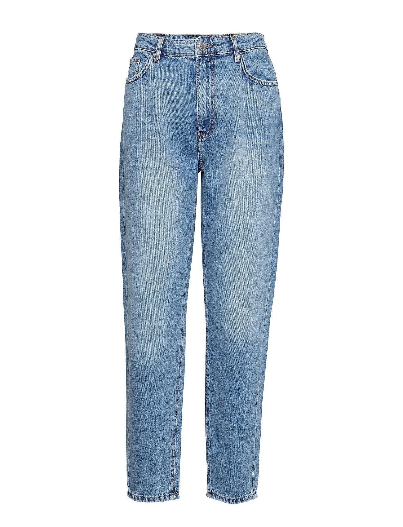 Gina Tricot Dagny mom jeans - MID BLUE