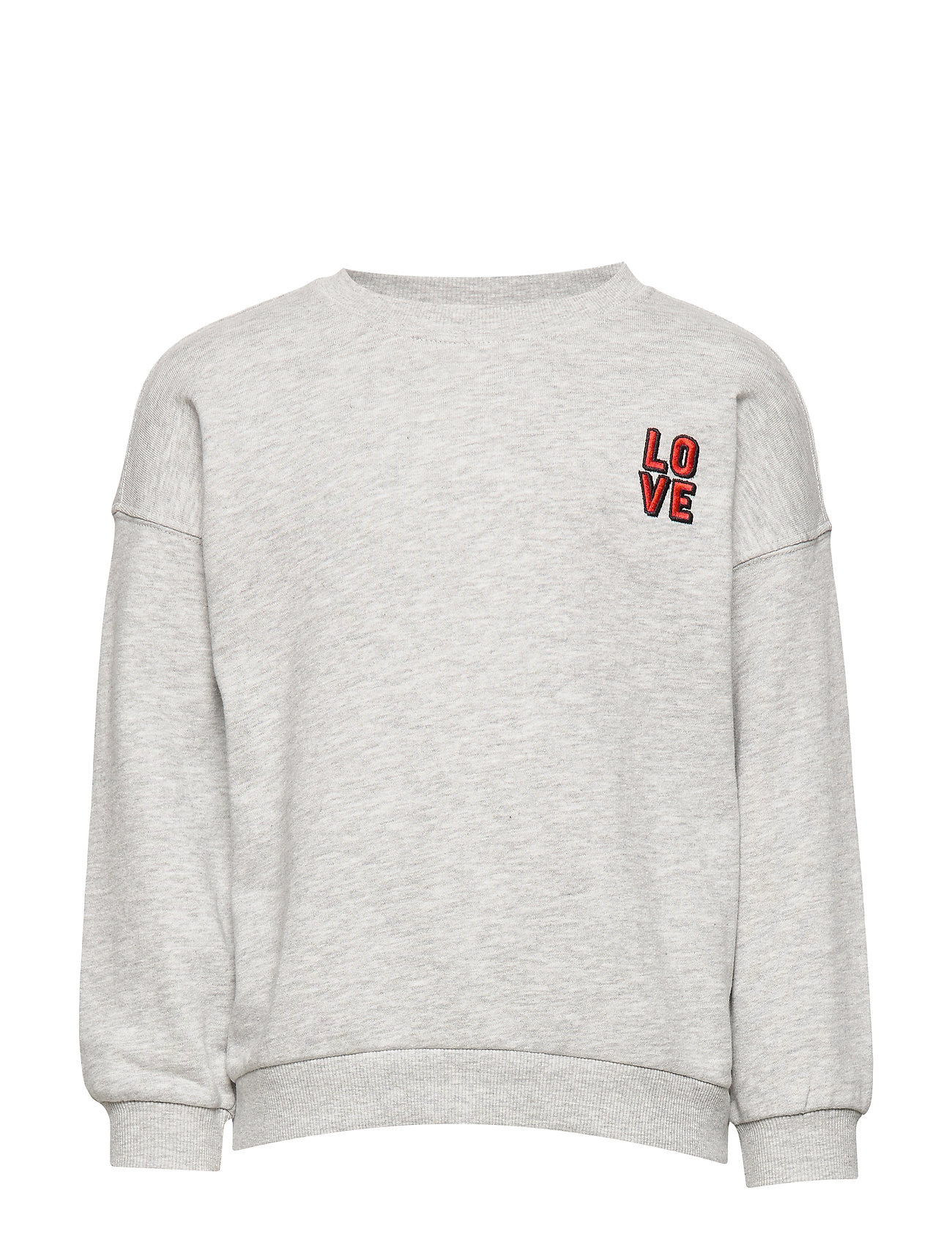 Gina Tricot Mini sweatshirt - LOVE/LTGREY