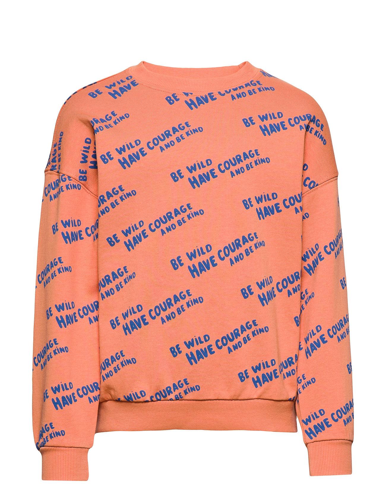 Gina Tricot Mini sweatshirt - ORANGE COURAGE AOP