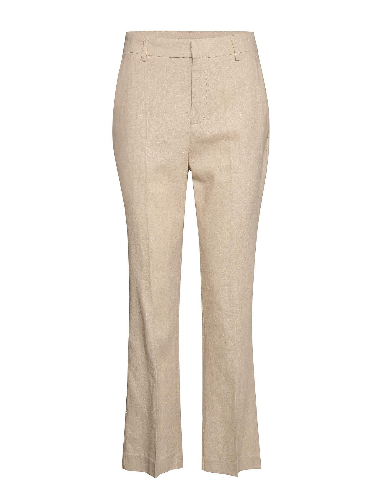 Gina Tricot Lisa linen trousers - LT LINEN BEIGE