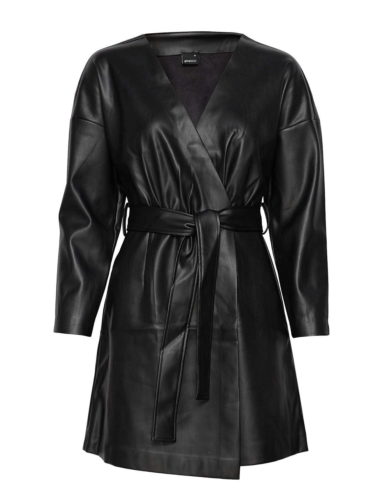 Gina Tricot Naomi pu dress - BLACK