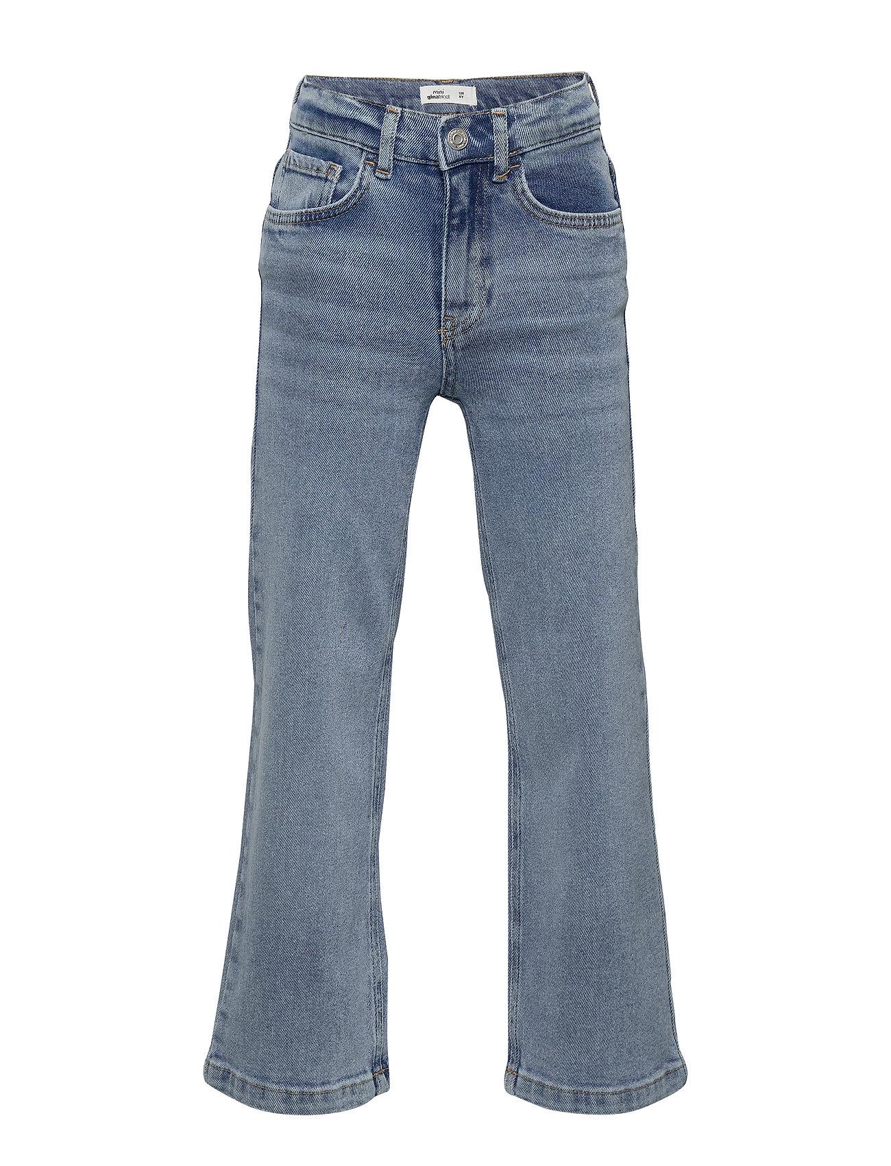 Gina Tricot Mini wide jeans - BLUE