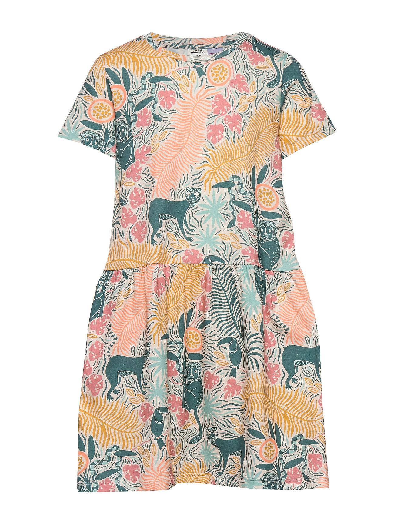 Gina Tricot Mini bell dress - JUNGLE (7005)