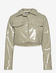 Gina Tricot - Cassidy pu jacket - skinnjackor - ice green (1523) - 0