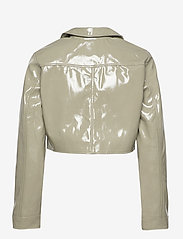 Gina Tricot - Cassidy pu jacket - skinnjackor - ice green (1523) - 1
