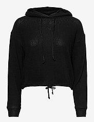 Stina rib hoodie - BLACK (9000)