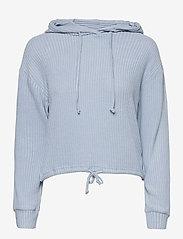 Stina rib hoodie - BLUE FOG (5080)