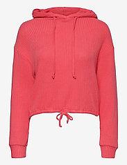 Stina rib hoodie - CALYPSO CORAL (3922)