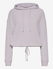 Stina rib hoodie - EVENING HAZE (4157)