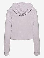Gina Tricot - Stina rib hoodie - hættetrøjer - evening haze (4157) - 1