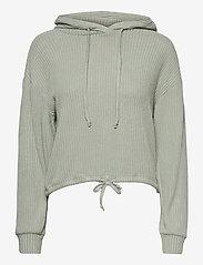 Stina rib hoodie - ICEBERG GREEN (6125)