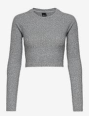 Gina Tricot - Kinsley rib top - crop tops - grey melange (8181) - 0