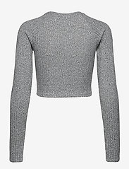 Gina Tricot - Kinsley rib top - crop tops - grey melange (8181) - 1