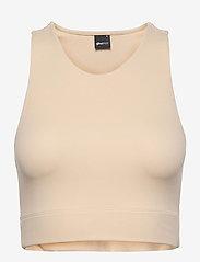 Gina Tricot - Cassie tanktop - crop tops - oxford tan (7168) - 0