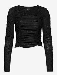 Gina Tricot - Rita top - langærmede toppe - black (9000) - 0