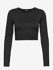 Gina Tricot - Yara cropped top - crop tops - black (9000) - 0