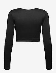 Gina Tricot - Yara cropped top - crop tops - black (9000) - 1