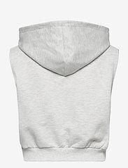 Gina Tricot - Kalyn sleeveless hoodie - hættetrøjer - lt greymelange (8049) - 1