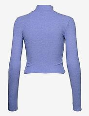 Gina Tricot - Eloise zip top - strikkede toppe - blue bonnet (5138) - 1