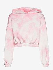 Gina Tricot - Jackie hoodie - hættetrøjer - pink tye die (3987) - 1