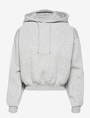 Gina Tricot - Selma hoodie - hættetrøjer - grey melange (8181) - 0
