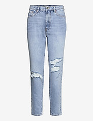 Gina Tricot - Dagny mom jeans - mom jeans - ocean blue dest (5079) - 0