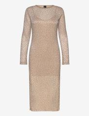 Gina Tricot - Judy midi dress - midimekot - beige (1040) - 1