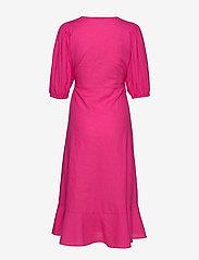 Gina Tricot - Ella linen wrap dress - kietaisumekot - pink peacock (3208) - 1