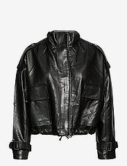 Gina Tricot - Hope pu jacket - skinnjakker - black (9000) - 1
