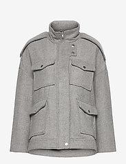 Gina Tricot - Lollo jacket - wool jackets - lt grey - 1