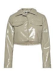 Cassidy pu jacket - ICE GREEN (1523)