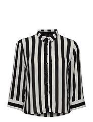 Kajsa shirt - BLACK/WHITE