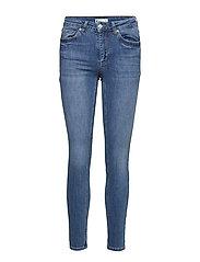 Lisen midwaist jeans - DK BLUE