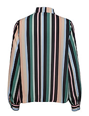 Dolores tie neck blouse - SUBURBIA STRIPE