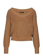 Maja knitted sweater - CAMEL BEIGE