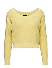 Maja knitted sweater - MELLOW YELLOW