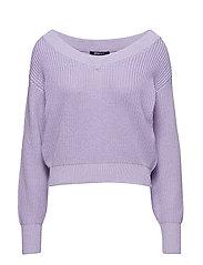 Maja knitted sweater - PASTEL LILAC