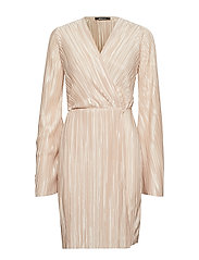 Mimmi wrap dress - LIGHT CREAM
