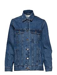 The oversized denim jacket - MID BLUE