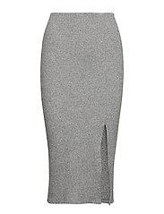 Jade rib skirt - GREY MELANGE
