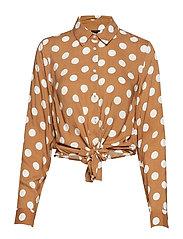 Ida tie front shirt - DOTS