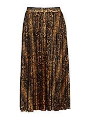 Eva pleated skirt - SNAKEPRINT AOP