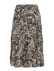 Vanja pleated skirt - ANIMAL MIX