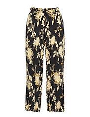 Bella culotte trousers - LINEAR FLOWER