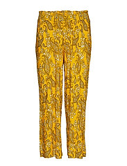Bella culotte trousers - YELLOW PAISLEY